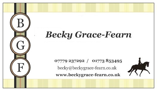 BECKY GRACE-FEARN EQUINE SERVICES AND TAILORED TEACHING