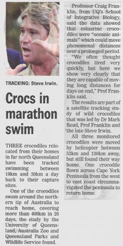 Crocs In Marathon Swim!!