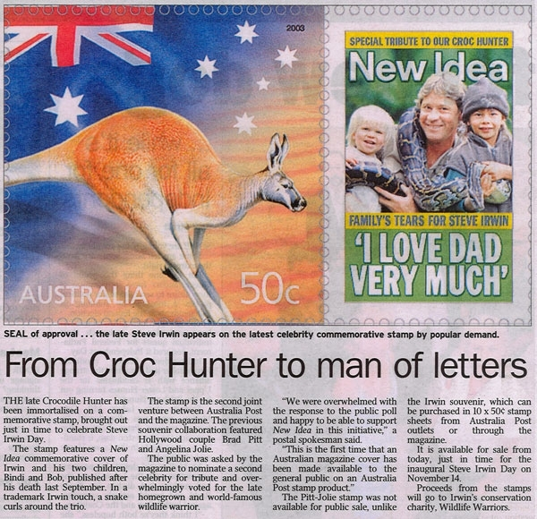 From Croc Hunter To Man Of Letters