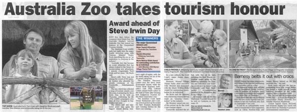 Australia Zoo Takes Tourism Honors