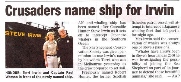 Crusaders Name Ship For Irwin